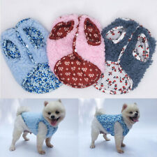 Vest Dog Clothes Pet Dog Shirt Sleeveless Small Dog Button Autumn Winter Warm