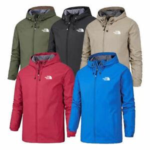 N0RTH FACE Mens Waterproof Outdoor Hooded Hoodies Full Zip Jacket Rain Coats Top