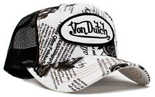 Authentic Brand New Von Dutch Black Rose Cap Hat Mesh Snapback Black/White