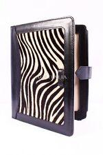 iPAD 2 3 & 4 Zebra Print Lambskin Luxury Real Genuine Leather Cover Case Stand