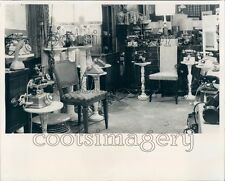 Antique Telephone Collection George's Furniture Gallery NY Press Photo