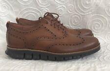 Cole Haan ZeroGrand Wingtip Oxford C24964 British Tan Leather Men's 7.5 New