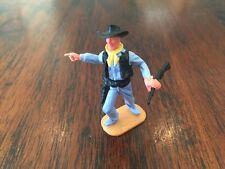 Timpo Cowboy - Rare Light Blue Legs/ Black Gunbelts - Wild West - 1960-70s