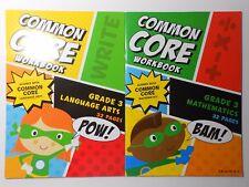 Common Core Workbooks GRADE 3 MATHEMATICS or LANGUAGE ARTS You Pick