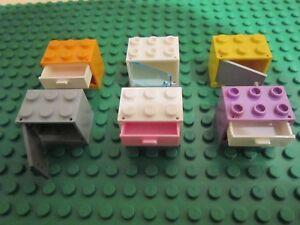 Lego 1 x puerta marco 60596 amarillo 1x4x6 puerta 60616 transparente negro
