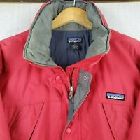 VTG PATAGONIA Size Medium Mens Red Winter Ski/Board Parka Jacket Poly Insulated