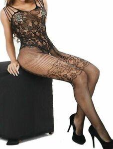 Sexy Lingerie Fishnet Body stockings Dress Underwear Babydoll Sleepwear Bodysuit