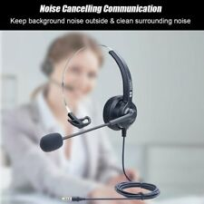 3.5mm Wired Computer Headset Call Center Headphones For PC Laptop Online Meeting