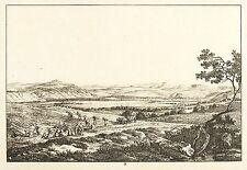 LEUBNITZ (DRESDEN) - Fernsicht - Ludwig Richter - Radierung 1820