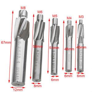 5Stück Kegelsenker Senkbohrer HSS Flachsenker Drill Bit M3/M4/M5/M6/M8 XY
