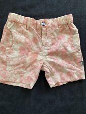 Imps & Elfs NWT Organic Cotton Shorts Beige/Red Balloon - 3-6 Months
