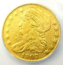 1807 Capped Bust Gold Half Eagle $5 - ICG VF20 Details - Rare Gold Coin!