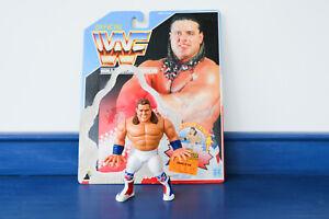 WWF Hasbro British Bulldog Figure with Card. Series 4 WWE. Wrestling