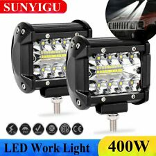 2X 400W LED Faro Lampade Supplentare Profondita Auto Fuoristrada Work Light 12V