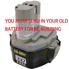 Battery Rebuild service For Makita 193157-5 12 Volt 3.0 Ah  NI-MH