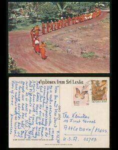Mayfairstamps Sri Lanka 1979 Buddhist Monks to US Picture Postcard wwp433