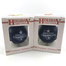 2017 Houston Astros World Series Champions Christmas Ornament Baseball Lot of 2