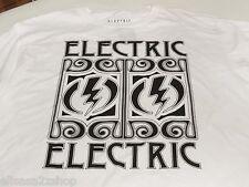 Men's Electric standard fit white T shirt lightning medium M bolt surf skate NEW