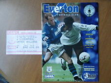 Everton Home Teams C-E Football Programmes with Match Ticket