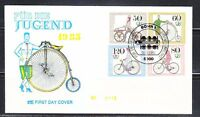Germany 1985 esrttagbrief FDC cover Sc B630-633 Mi 1242-1245 Bicycles LUX