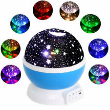 Starry Night Sky Projector Lamp Kids Baby Gift Moon Star Light 360° Rotating HT