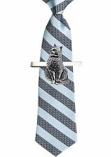 CodeA15 Cat Tie Clip Ties slide Pewter Jewellery Bar Smart Suit A13 Kittern