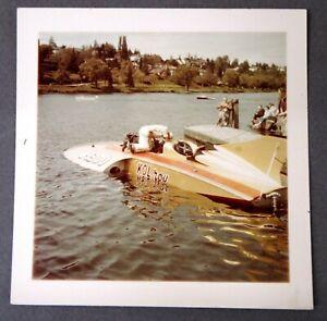 "KOL-ROY U-1300 original color 3.5"" by 3.5"" SNAPSHOT photo Hydroplane boat race 0"