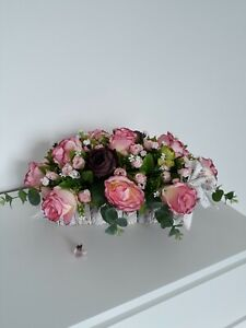 Wedding Top Table Arrangement, Artificial Flowers , lovely pink reses