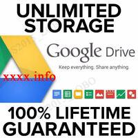 GSuite Google Drive Unlimited, Cloud, Meet, YOUR USERNAME + 100% Lifetime