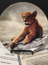 """Wild Innocents Plate Collection """"Lion Cub"""" By Charles Frace"""