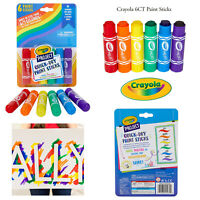 Crayola Kids Washable 6ct Paint Sticks Arts & Crafts Quick Dry Painting Tool Set