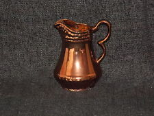 Copper Lustre Dresser Jug Water Pitcher Victorian Raised Moulding Staffordshire