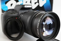 2x Telephoto Zoom Macro Lens For Canon Eos Digital Rebel t6/5i sl1 xti  t3 t4i