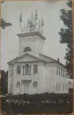 1910 Realphoto PC: Meeting House - Sudbury, Vermont, VT