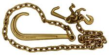 5/16''x10' J Hook Tow Chain Auto Tie Down Chain  Long Shank Grade 70