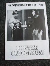 Arnold Schwarzenegger-Mr.Universum Filmprogramm-Nr.112-Germany 1976