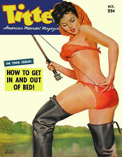 Vintage Titter magazine cover pinup pin-up girl October 1952 sexy girl lingerie