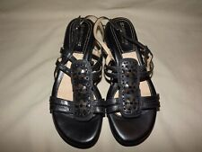 "WOMENS BRAND NEW ""NATURALIZER"" FALCONETTE BLACK LEATHER SLINGBACKS SIZE 9 M"