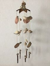 Vintage shell mobile hanging wind chime