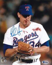 Nolan Ryan Signed Texas Rangers 8x10 Blood Photo BAS