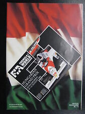 Program Hungarian Grand Prix 1990 10-12 August Hungaroring Budapest (PBE)