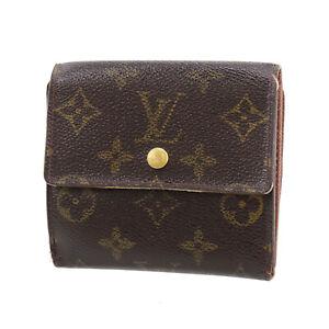 LOUIS VUITTON Elise Bi-fold Wallet Monogram Brown M61654 Vintage Auth #BA246 S