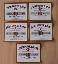 5 Irish Whiskey John Power & Son Ten Years Old Labels