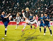 Cristiano Ronaldo Autographed Juventus 16x20 Photo Signed Bike - BAS Beckett