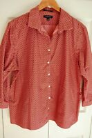 Women's Lads End Blouse size 18 3/4 sleeve pink brown 100% cotton