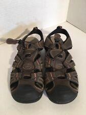 Magellan Ningbo Men's Size 9 Brown Leather Upper Outdoor Fisherman Sandals