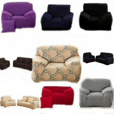 Home Soft Solid Micro Suede Sofa Loveseat Armchair Cover Slipcover