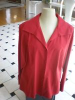 Women's Talbots SIZE 14 W WRINKLE RESISTANT BUTTON DOWN RED SHIRT LONG SLEEVE