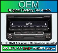 VW RCD 310 DAB+ RADIO NUMÉRIQUE, TRANSPORTER T5 Unité Lecteur CD, code