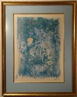 "ORIGINAL WORK BY EDNA HIBEL TITLED ""UNIQUE"" SIGNED IN PENCIL FRAMED LITHOGRAPH"
